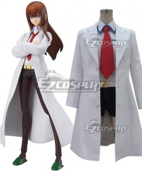 Steins;Gate Steins Gate Kurisu Makise White Cosplay Costume