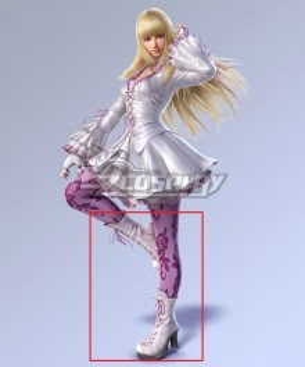 Tekken 7 Lili de Rochefort White Shoes Cosplay Boots