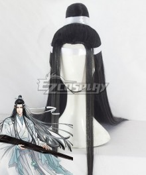 The Grandmaster of Demonic Cultivation Mo Dao Zu Shi Lan Wangji Black Cosplay Wig