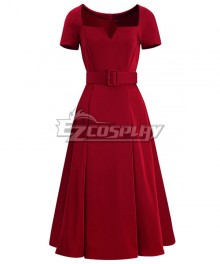 The Marvelous Mrs. Maisel Season 3 Miriam 'Midge' Maisel Red Dress Cosplay Costume