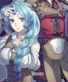 The Rising Of The Shield Hero Therese Alexanderite Blue Cosplay Wig