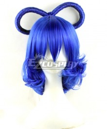 Touhou Project Kaku Seiga Blue Cosplay Wig