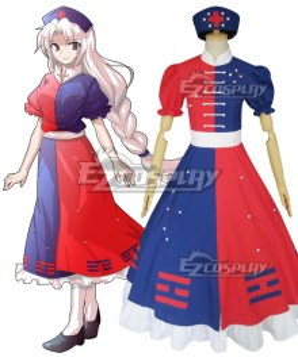 Touhou Project Mooner Yagokoro Eirin Cosplay Costume