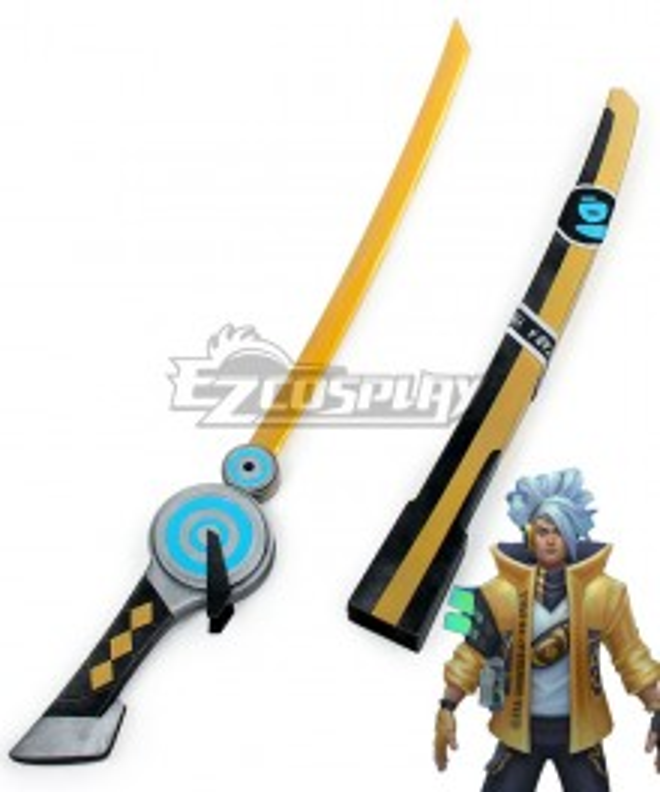 League of Legends LOL True Damage Yasuo Prestige Edition Sword Cosplay Weapon Prop