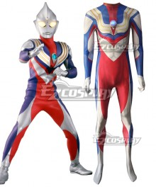 Ultraman Tiga Zentai Jumpsuit Cosplay Costume