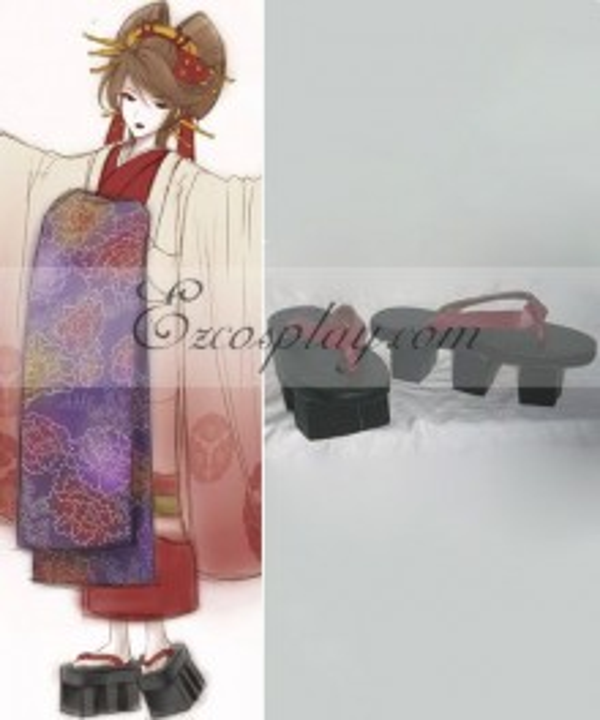Vocailoid Thousand Cherry Tree Meiko Geisha Cosplay Shoes