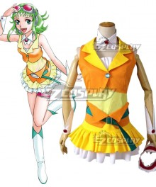 Vocaloid 2 Gumi Megpoid Yellow and Orange Cosplay Costume