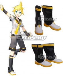 Vocaloid Classic Kagamine Rin Kagamine Len White Yellow Cosplay Shoes