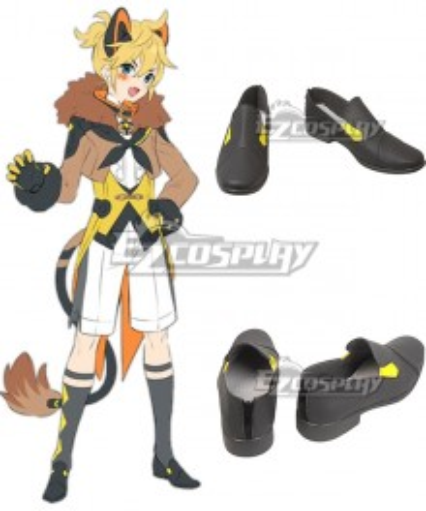 Vocaloid Magical Mirai 2019 Kagamine Len Black Shoes Cosplay Boots