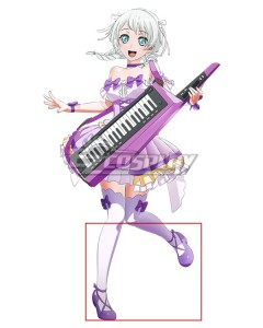 BanG Dream! Pastel*Palettes Wakamiya Eve Purple Cosplay Shoes