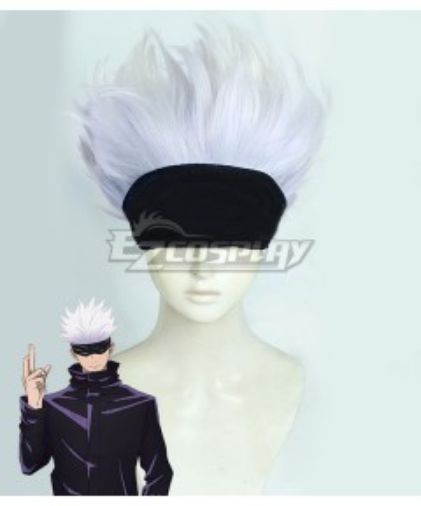 Jujutsu Kaisen Sorcery Fight Megumi Satoru Gojo White Purple Cosplay Wig - Only Wig