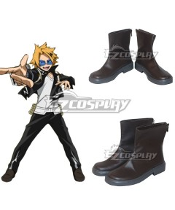 My Hero Academia Boku no Hero Akademia Denki Kaminari Brown Cosplay Shoes