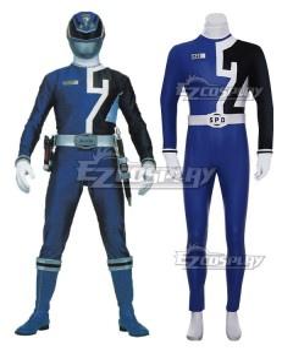 Power Rangers S.P.D. SPD Blue Ranger Cosplay Costume