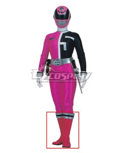 Power Rangers S.P.D. SPD Pink Ranger Pink Shoes Cosplay Boots