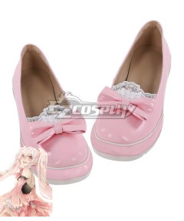 Vocaloid Sakura Miku Pink Cosplay Shoes