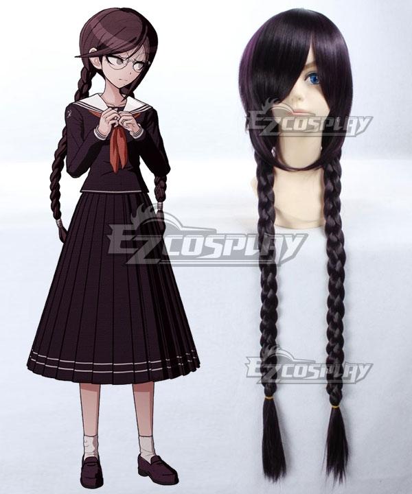 Dangan Ronpa Touko Fukawa Black Purple Cosplay Wig