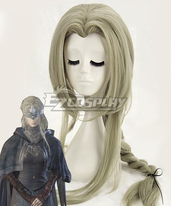 Dark Souls III Fire Keeper Firekeeper Grey Green Cosplay Wig