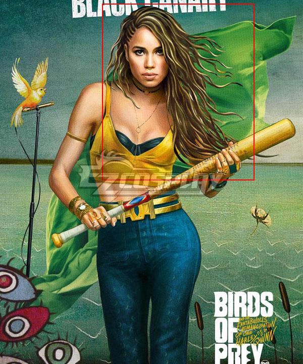 DC Birds of Prey  Black Canary Dinah Lance Golden Cosplay Wig