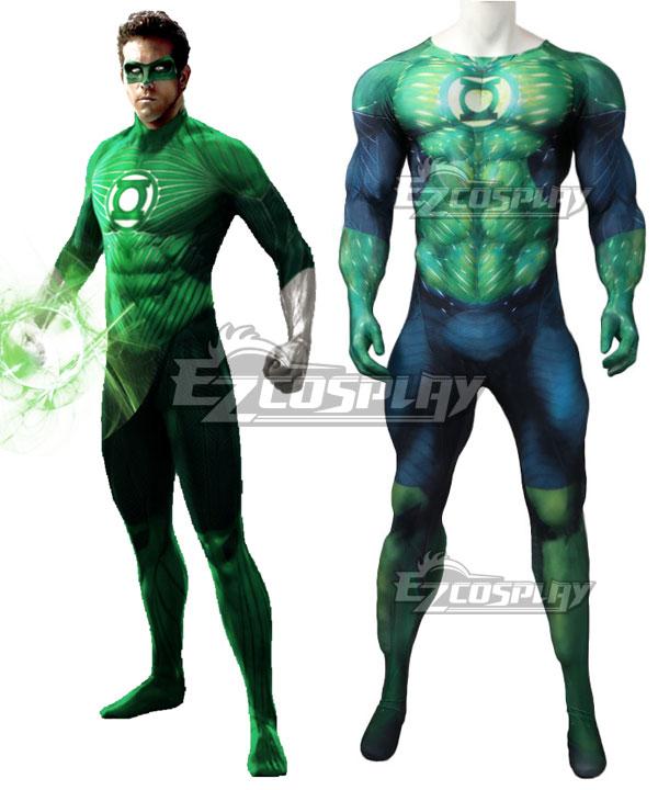 Jumpsuit | Lantern | Costume | Muscle | Comic | Green