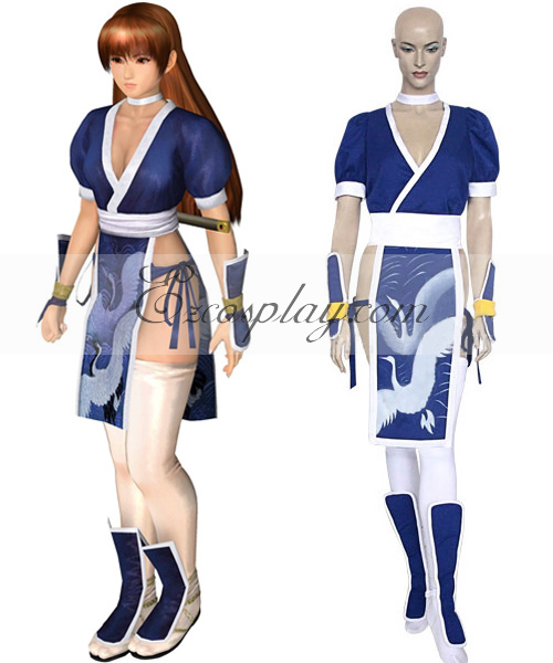 Dead or Alive Kasumi (Blue) Cosplay Costume( Without Arm Protectors)