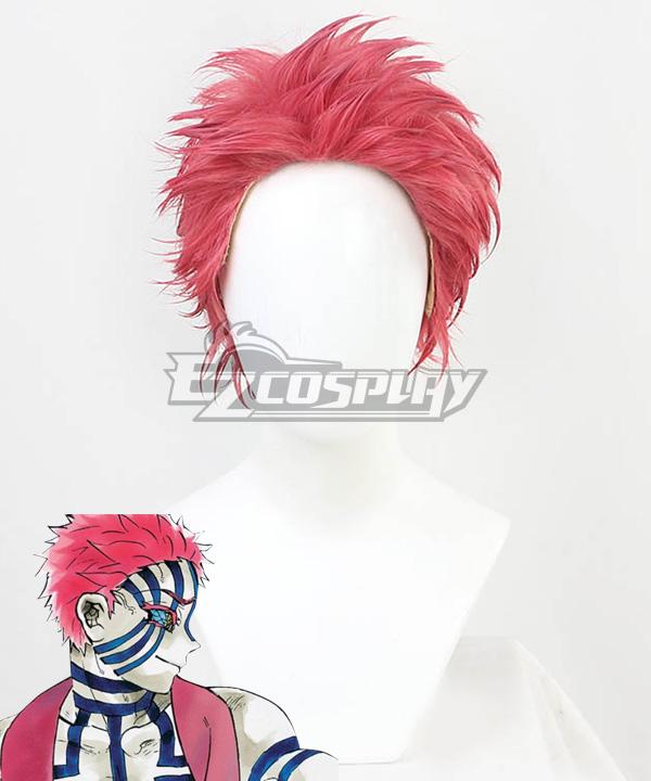 Demon Slayer: Kimetsu No Yaiba Akaza Komaji Red Cosplay Wig