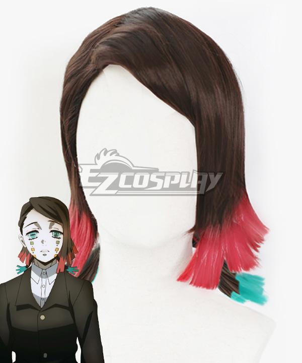 Demon Slayer: Kimetsu No Yaiba Enmu Brown Cosplay Wig B Edition