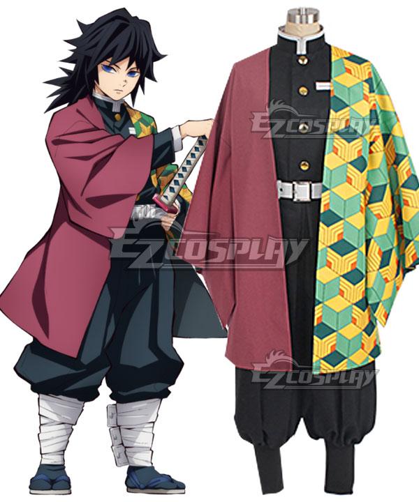 Demon Slayer: Kimetsu No Yaiba Giyuu Tomioka Cosplay Costume
