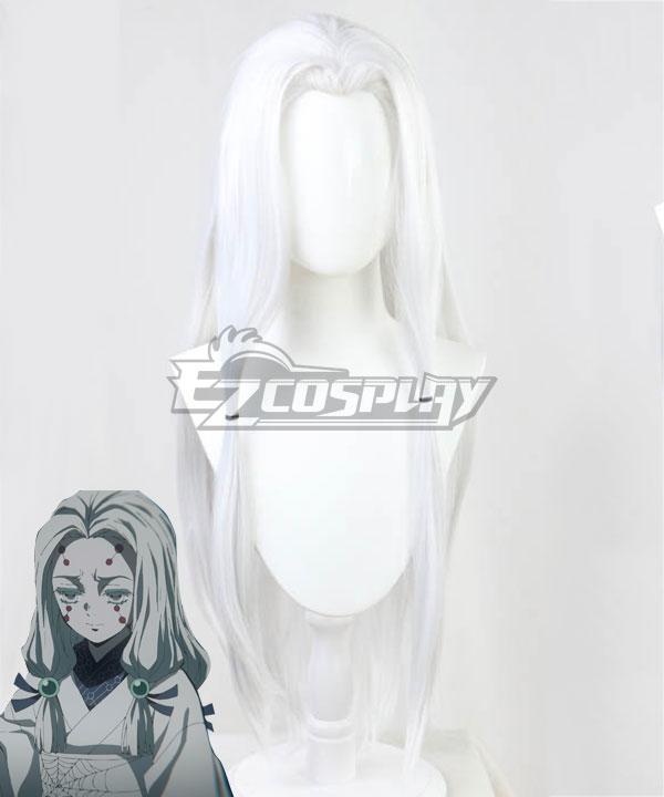 Demon Slayer: Kimetsu No Yaiba Older Sister Spider White Cosplay Wig