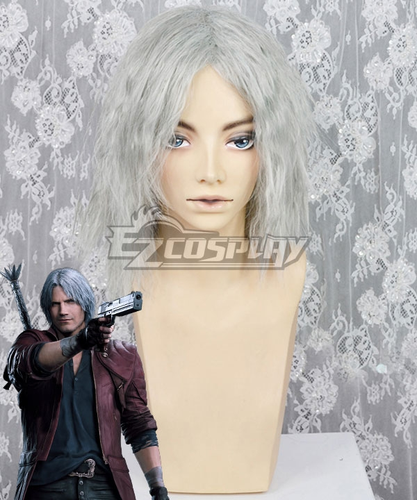 Devil May Cry 5 Dante White Cosplay Wig