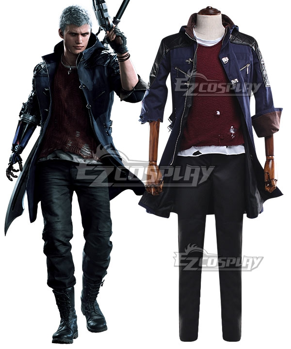 Devil May Cry 5 Nero Cosplay Costume - Both Sleeves Are The Same, Without Pants