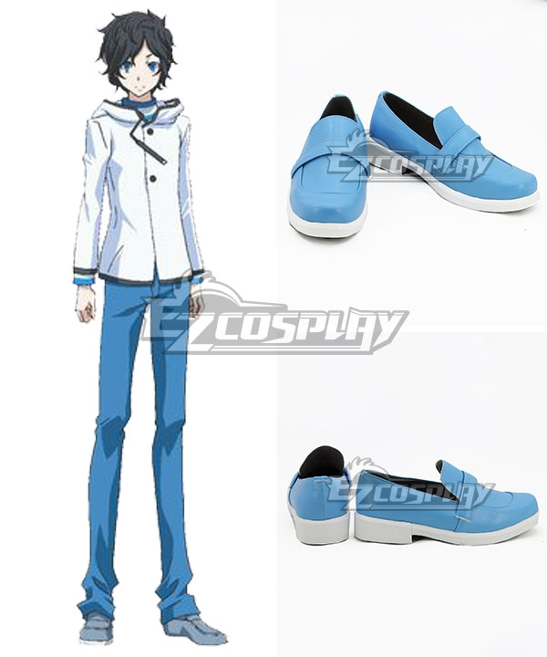Devil Survivor 2: The Animation Hibiki Kuze Blue Cosplay Shoes