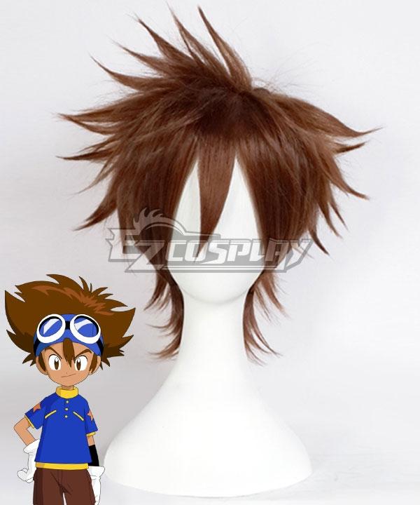 Digimon Adventure Digital Monster Tai Kamiya Taichi Yagami Brown Cosplay Wig - Only Wig