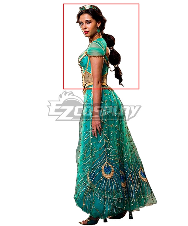 Disney 2019 ALADDIN Princess Jasmine Black Cosplay Wig