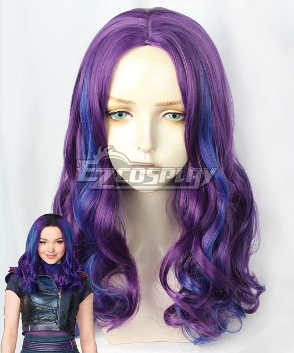 Disney   Purple   Blue   Wig