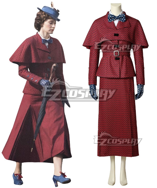 1930s Costumes- Bride of Frankenstein, Betty Boop, Olive Oyl, Bonnie & Clyde Disney Mary Poppins Cosplay Costume $187.99 AT vintagedancer.com