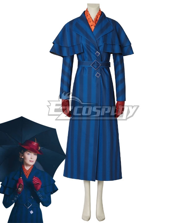 1930s Costumes- Bride of Frankenstein, Betty Boop, Olive Oyl, Bonnie & Clyde Disney Mary Poppins Cosplay Costume - A Edition $164.99 AT vintagedancer.com