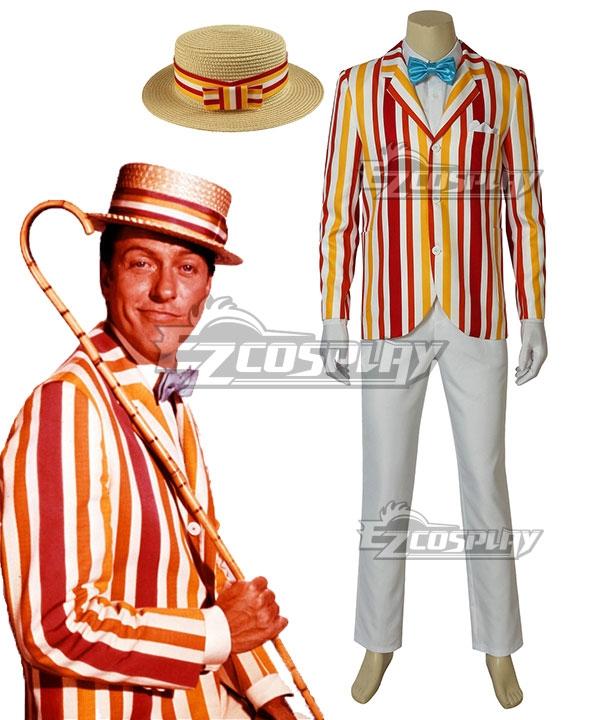 Men's 1900s Costumes: Indiana Jones, WW1 Pilot, Safari Costumes Disney Mary Poppins Returns Bert Cosplay Costume $126.99 AT vintagedancer.com