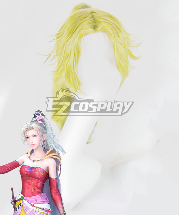 Dissidia Final Fantasy NT Terra Branford Golden Cosplay Wig