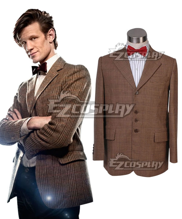 Image of Doctor Who Matt Smith Coat and Bowtie Cosplay Costume