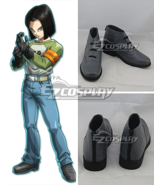 Dragon Ball Android 17 Grey Cosplay Shoes