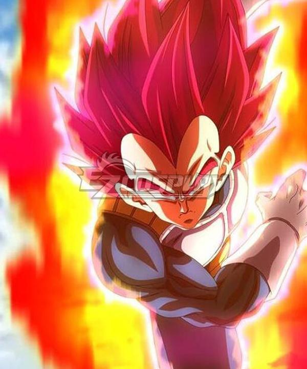 Dragon Ball Super: Broly Vegeta Super Saiyan God Red Cosplay Wig