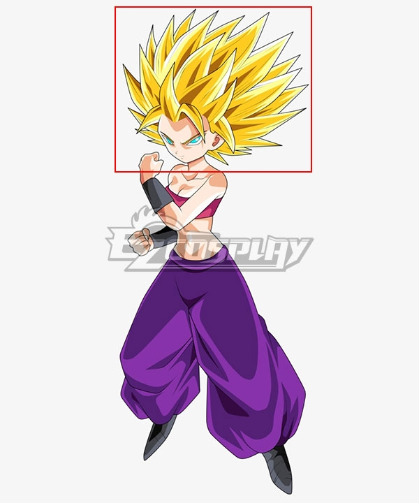 Dragon Ball Super Caulifla Super Saiyan Golden Cosplay Wig