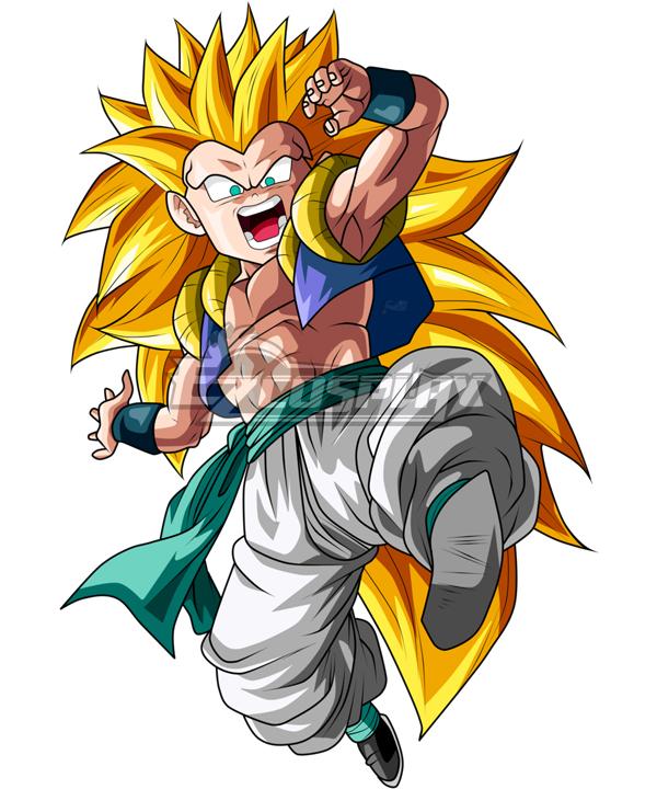 Dragon Ball Super Gotenks Super Saiyan 3 Golden Cosplay Wig