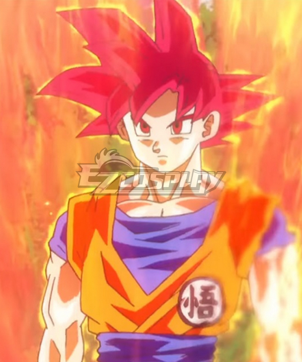 Dragon Ball Super Son Goku Kakarotto Super Saiyan God Red Cosplay Wig