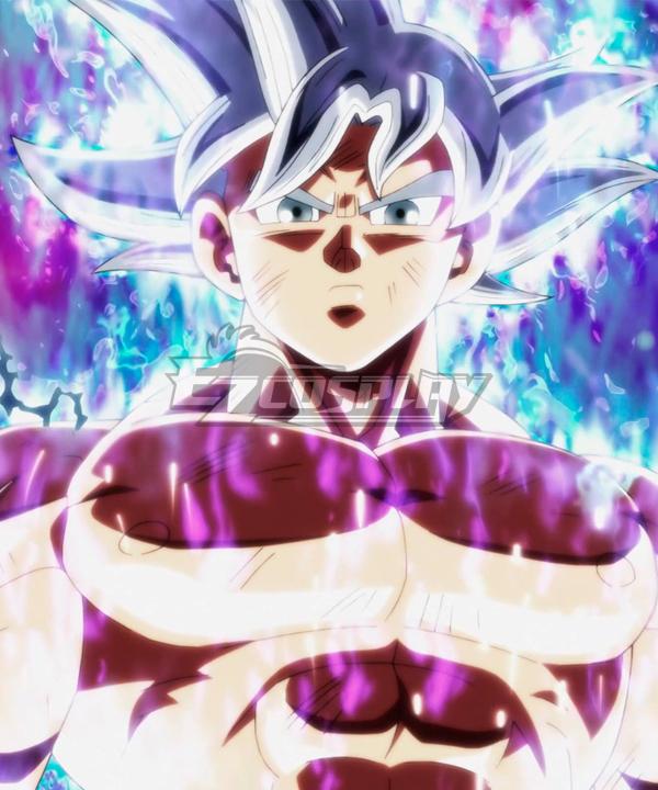 Dragon Ball Super Son Goku Kakarotto Ultra Instinct Mastered Silver Cosplay Wig