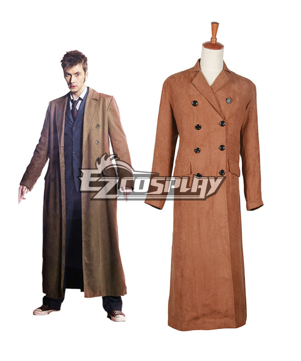 1930s Men's Clothing Doctor Who Dr. Brown Long Trench Coat  $107.99 AT vintagedancer.com