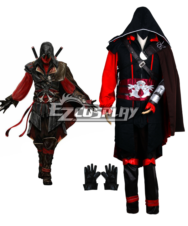Assassin's Creed Deadpool Red Cosplay Costume
