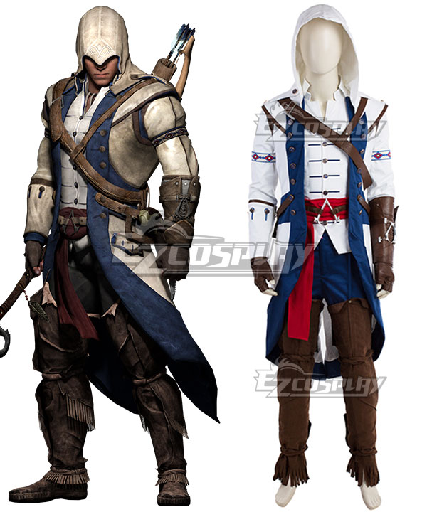 Assassin's Creed III Ratohnhake:ton Connor Kenway Cosplay Costume