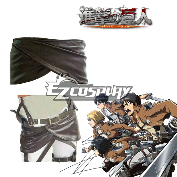 Attack on Titan Shingeki no Kyojin Leather Apron Cosplay Accessory Prop