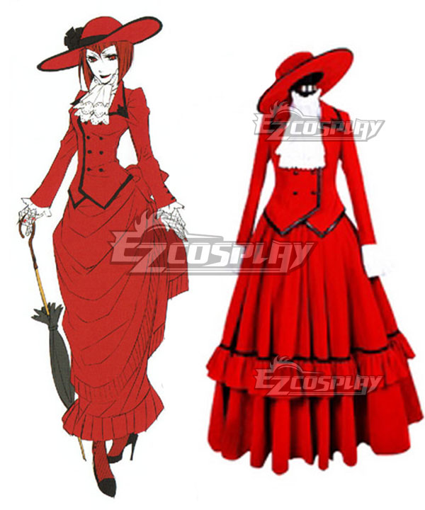 Victorian Dresses, Clothing: Patterns, Costumes, Custom Dresses Black Butler Angelina Dulles madame red Cosplay Costume - Premuim Edition $86.99 AT vintagedancer.com